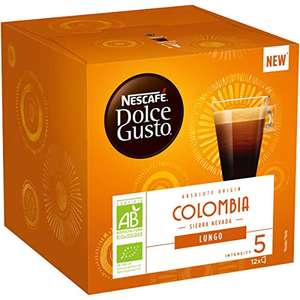 Lot de 6 boites de café Dolce Gusto Lungo Colombia Bio - 6 x 12 dosettes
