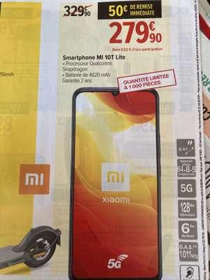 "Smartphone 6.67"" Xiaomi Mi 10T Lite 5G - full HD+, SnapDragon 750G, 6 Go de RAM, 128 Go, noir"