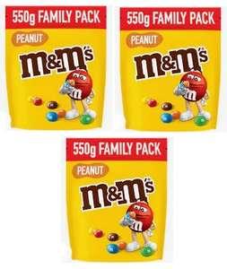 Lot de 3 sachets de M&M's Family Pack - 3x 550g