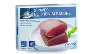 [Carte Picard & Moi] Paquet de 2 pavés de thon Albacore surgelés Picard - 250 g