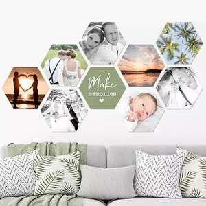 Sélection d'Impression photo Hexagone, Carré, Cercle en promotion à partir de 2,79€ - 5 dimensions disponibles (17x15 cm jusqu'à 37x32 cm)