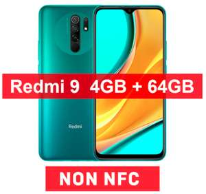 """Smartphone 6.53"""" Xiaomi Redmi 9 - full HD+, Helio G80, 4 Go de RAM, 64 Go, vert, sans NFC"""