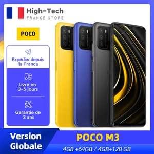"""Smartphone 6.53"""" Xiaomi Poco M3 - 128 Go, 4Go de RAM (entrepôt France)"""