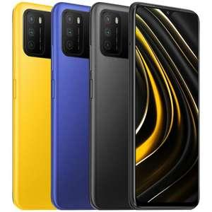 "Smartphone 6.53"" Xiaomi Poco M3 - Full HD+, Snapdragon 662, RAM 4 Go, 64 Go, 6000 mAh, Noir ou Bleu (128 Go Jaune à 107€) - Vendeur tiers"