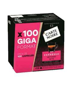 Boîte de 100 capsules de café Carte Noire compatibles Nespresso (Espresso intense n°9 ou Lungo Classique n°6)