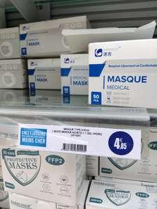 Pack boite de 50 masques médicaux + 1 gel hydroalcoolique - Clermont Ferrand (63)
