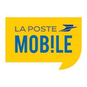 Forfait mensuel La Poste Mobile - Appels/SMS/MMS illimités + 20Go de DATA, 10Go en Europe, DOM/COM (Sans engagement / Condition de durée)
