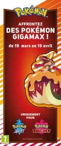 Pokémon Épée et Bouclier : code offert du 19/03 au 19/04 (Dématérialisé)