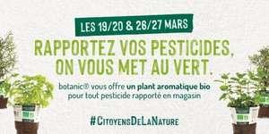 1 Plant aromatique bio offert en rapportant vos pesticides