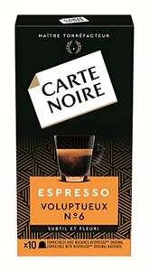 10 Paquets de 10 Capsules Café Carte Noire Espresso Volupteux N°6 Compatibles Nespresso