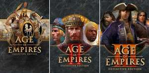 Age of Empires: Definitive Edition à 1,34€ - AOE II: DE à 3,68€ - AOE III: DE à 4,12€ sur PC Windows (Dématérialisés - Store BR)