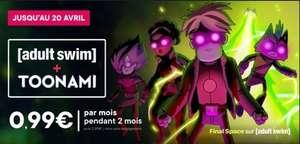 Le bouquet TV Adult Swim + Toonami à 0.99€/Mois pendant 2 Mois (Sans engagement - Dématérialisé)