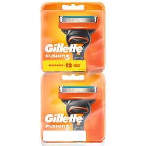Pack de 12 Lames de rasoir Gillette Fusion 5 (Via 27.27€ sur la carte fidélité)
