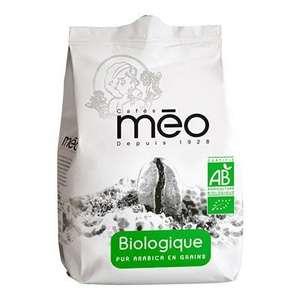 Sachet de café en grains Méo Biologique Pur Arabica - 500 g (via 1€ sur la carte de fidélité + Coupon Network)