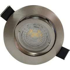 Lot de 3 spots encastrables orientables Arlux acier saphyr - 2700k