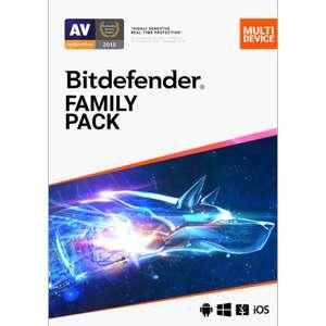 Antivirus Bitdefender family pack - 15 appareils pendant 2 ans (Dématérialisé, pcpro.co.uk)