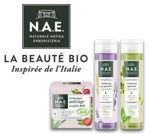 Shampooings liquides N.A.E. & gamme + Crème Visage N.A.E (via ODR de 4€)