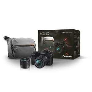 Appareil photo Panasonic Lumix G9 + Objectif 14-140mm f/3,5-5,6 + 25mm f/1.7 + Sac Peak Design Everyday Sling 10L (+120€ sur la carte)