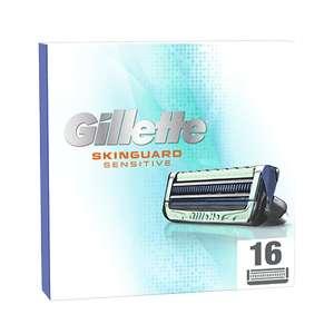 Packs de 16 lames pour rasoirs Gillette - SkinGuard, Fusion5 ou Mach3 + Accessoire