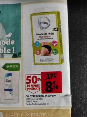 Culotte menstruelle lavable Intimy - Tailles S à L