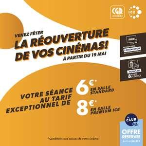 [Membres Club CGR] Place de cinéma à 6€ (ou 8€ en salle Premium ICE)