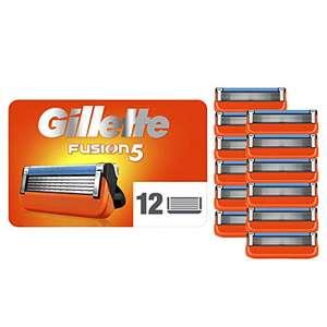 Pack de 12 Lames de rasoir Gillette Fusion 5