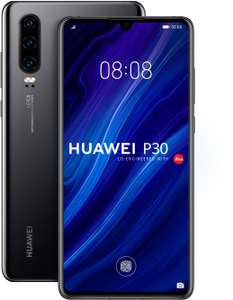 "Smartphone 6.1"" Huawei P30 - full HD+, Kirin 980, 6 Go de RAM, 128 Go, bleu nacré ou noir"