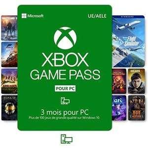 3 mois d'abonnement Xbox game pass PC (Dématérialisé)