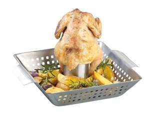 Support de cuisson pour poulet entier barbecue ou four
