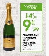 Bouteille de champagne Georges Cartier Tradition Brut - 75 cl