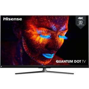 "TV 55"" Hisense 55U82QF - QLED, 4K, 100 Hz, HDR 10+, Dolby Vision, Smart TV, Barre de son JBL ( Via ODR de 200€)"