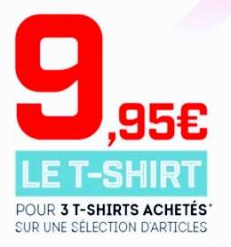 3 T-shirts parmi une sélection (Puma, Adidas,...)