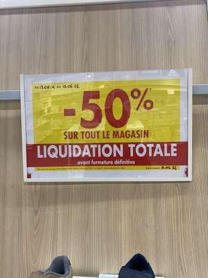 50% de réduction sur tout le magasin - Saint jean de la ruelle (45)