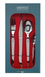 Ménagère 16 pièces Laguiole - 4 fourchettes, 4 couteaux, 4 cuillères à soupe et 4 cuillères à café