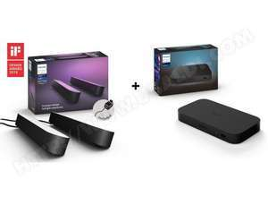 Boîtier de synchronisation Philips Hue Play HDMI Sync Box + 2 Lampes connectées Philips Hue Play - Noir