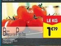 Tomates rondes - Catégorie 1, Origine Belgique/Pays-Bas (le kg)