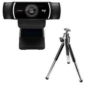Webcam Logitech C922 Pro Stream (1080p, 2 micros) - avec trépied (vendeur tiers)