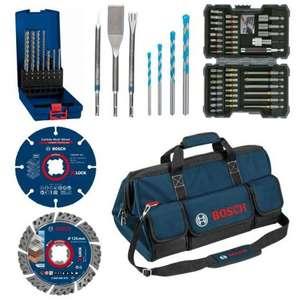 Kit d'accessoires de construction Bosch 061599760Y - coffret 43 d'embouts + 3 burins SDS Plus + 11 forets SDS Plus + 2 disques