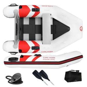 Bateau annexe pneumatique Cape Horn Diamond 200 - avec accessoires, blanc/gris ou blanc/rouge
