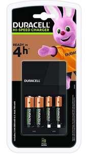 Chargeur de piles Duracell CEF14 4H avec 2 piles AA et 2 piles AAA fournies
