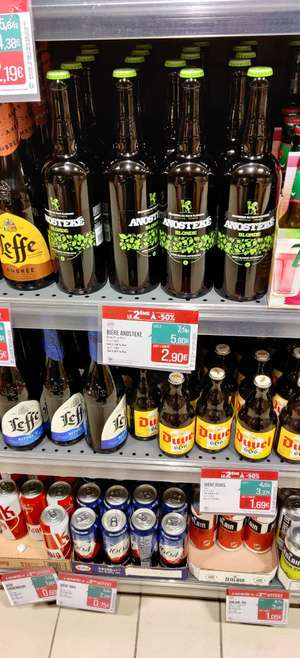 Lot de 2 bouteilles de bière ANOSTEKE (75cl) - Deûlémont (59)