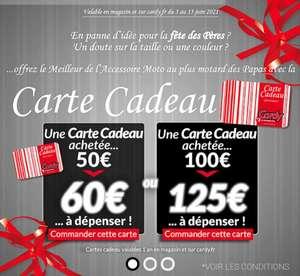 Carte Cadeau Cardy 60€ pour 50€, 125€ pour 100€