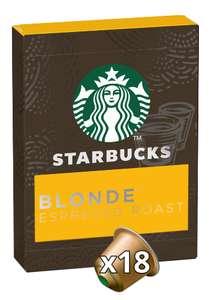 Sélection de cafés Starbucks en promotion - Ex: Lot de 9 paquets de capsules Starbucks by Nespresso Blonde Espresso Roast - 9 x 18 capsules