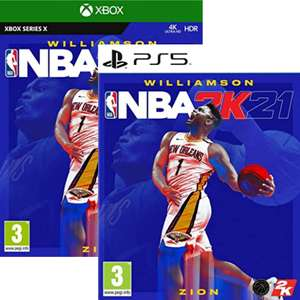 Jeu NBA 2K21 sur PS5 ou PS4 (Xbox Series X à 19.99€)