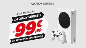 Jusqu'à 225€ de réduction sur la Xbox Series S en revendant votre console (Xbox Series S à 74,99€ pour toute reprise d'une PS4 Pro)
