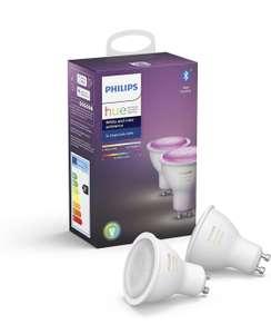 Pack de 2 ampoules Philips Hue White & Color Ambiance GU10