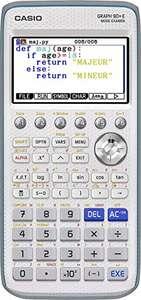 Calculatrice graphique Casio Graph 90+E (Frais d'importation inclus)