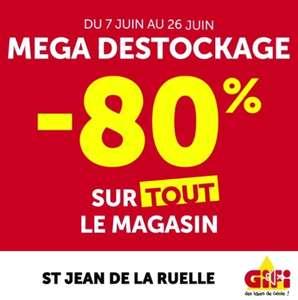 80% de réduction sur tout le magasin (liquidation totale) - Saint-Jean-de-la-Ruelle (45)