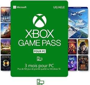 Abonnement de 3 mois au Xbox Game Pass sur PC (dématérialisé)