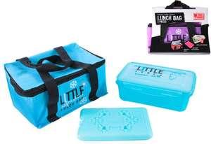 Sac isotherme (2.6L) + Lunch box (750ml) + Bloc froid (différents coloris disponibles)